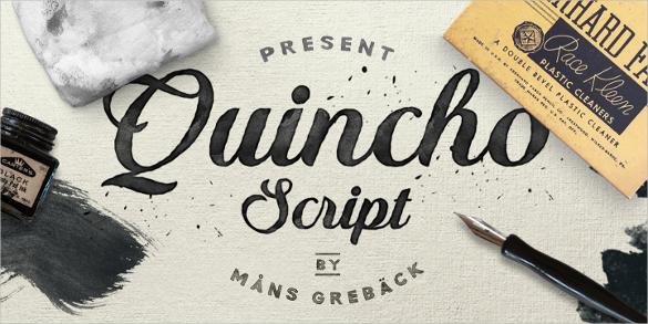 quincho script bold font download