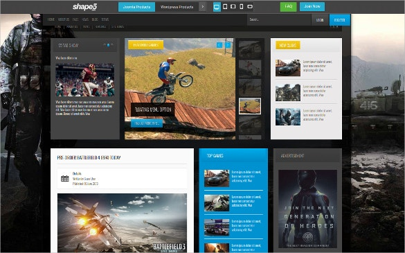 gamer joomla club website template
