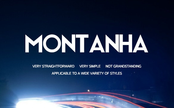 montanha simple and bold font free download