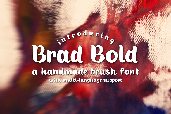 brad bold free fonts download