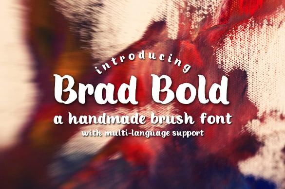 brad bold free fonts download
