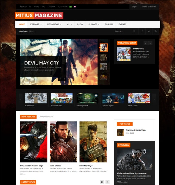 responsive joomla gaming website template