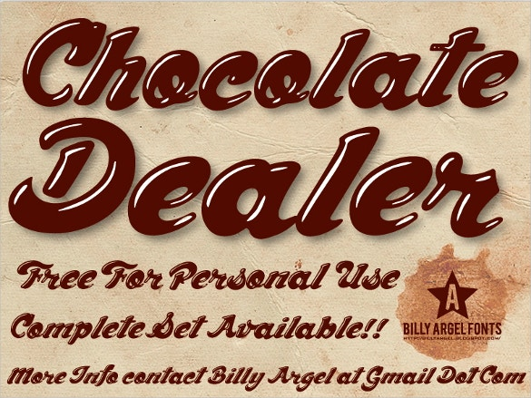 chocolate dealer font free download