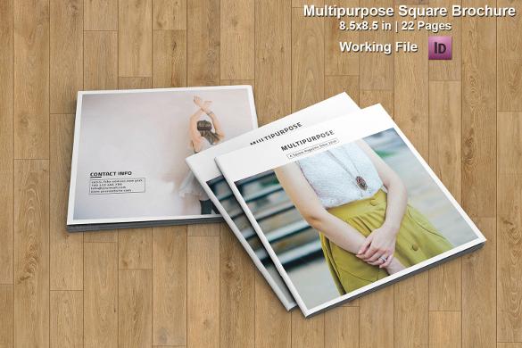 multipurpose square brochure download