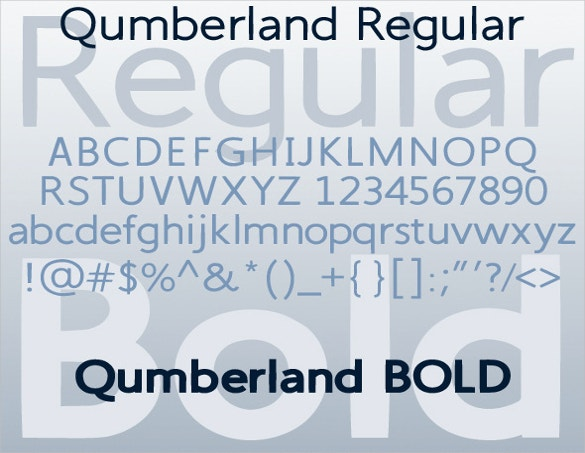 qumberland regular bold fonts free download