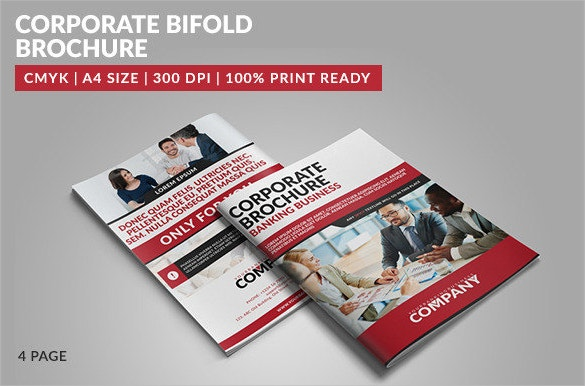 4 page corporate bifold brochure download