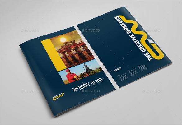 dark blue color brochure download