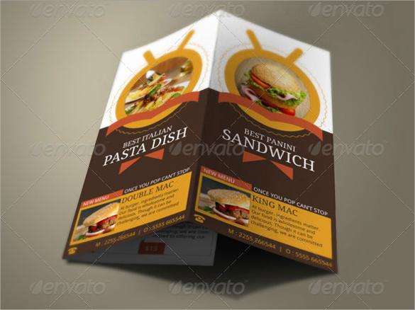 burger shop brochure template