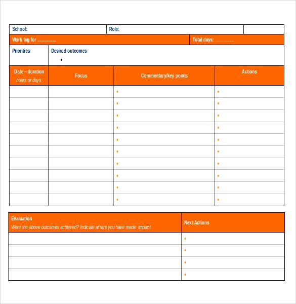 Log Templates – 15+ Free Word, Excel, Pdf Documents Download