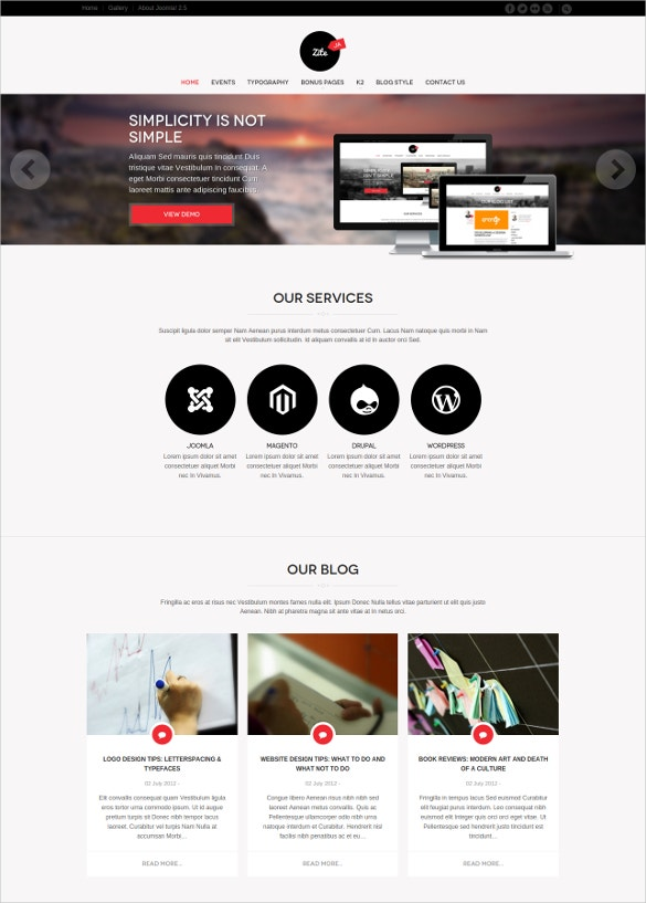corporate business joomla website template