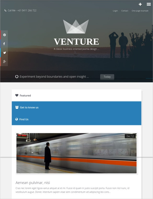 business venture joomla website template