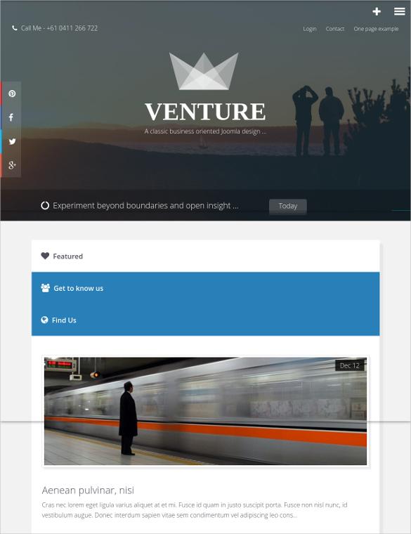business venture joomla website template