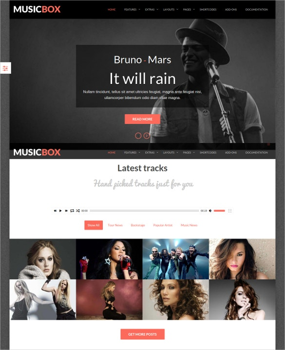 music box joomla website template