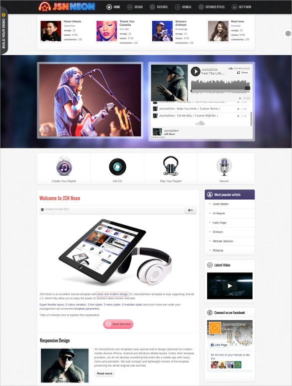 Music Joomla Templates 40+ Music Joomla Themes & Template | Free & Premium Templates