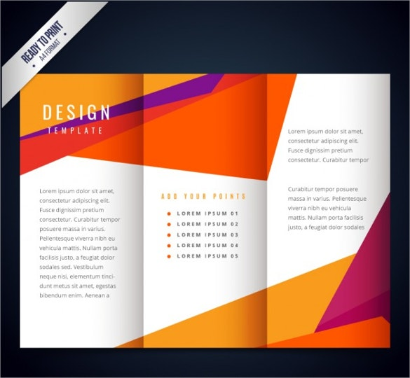 colorful modern brochure template download