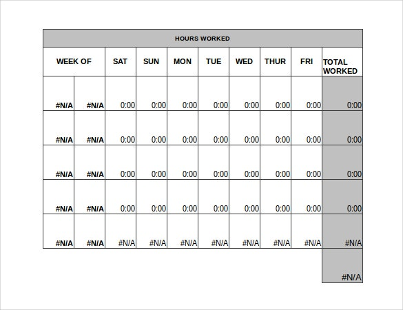 simple timesheet template excel format