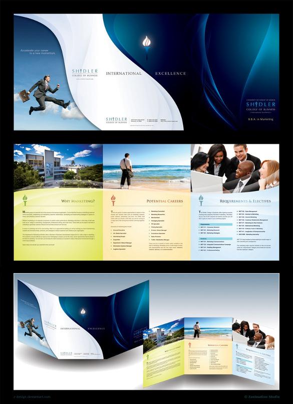 corporate design trifold brochure