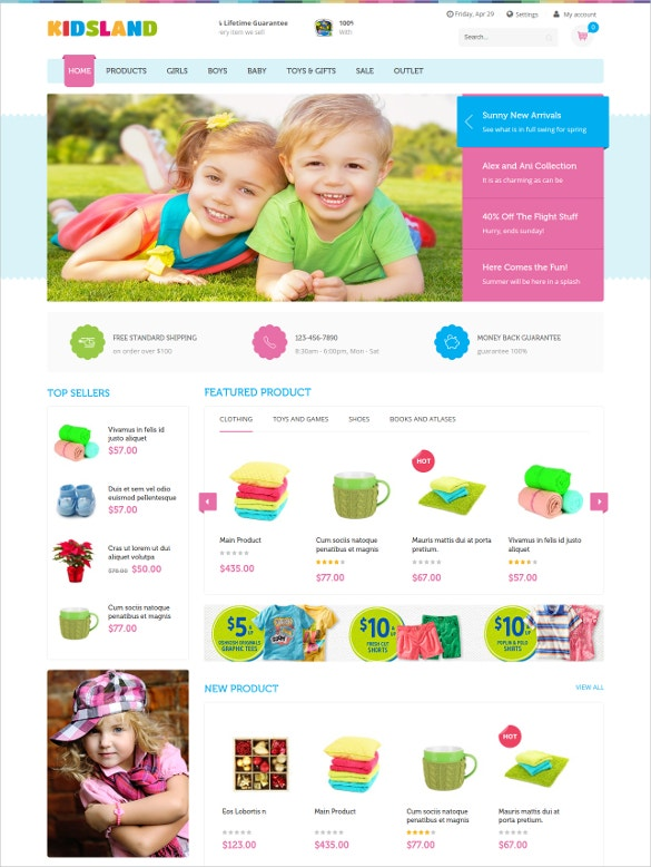 baby products magento website theme