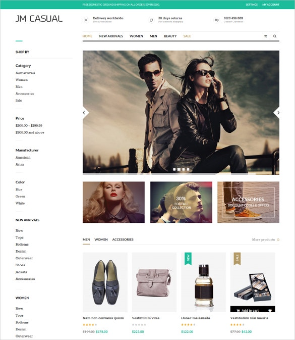 fashion magento ecommerce website template