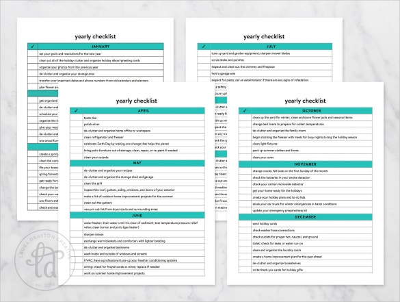 annual cleaning checklists template1