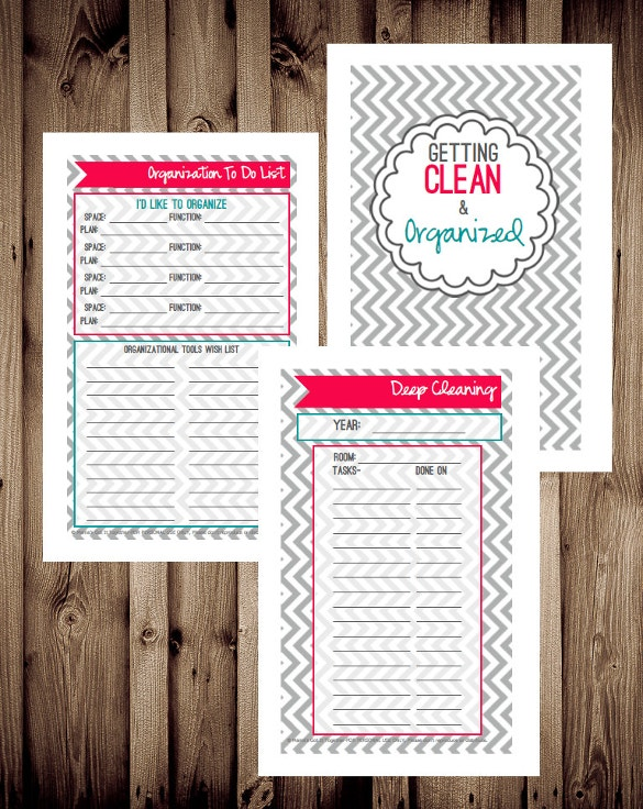 house cleaning schedule checklist template download