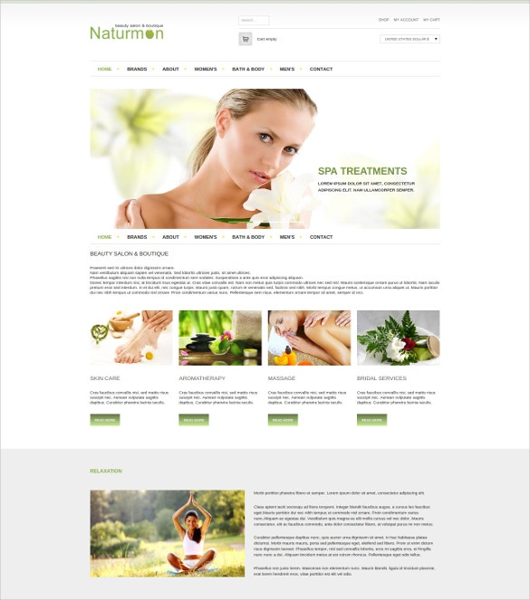 beauty care virtuemart joomla theme