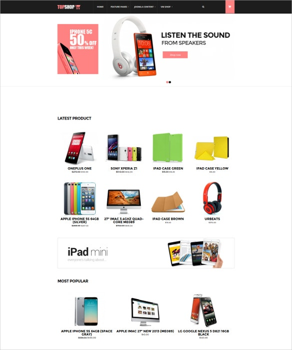 ecommerce mobile joomla virtuemart theme
