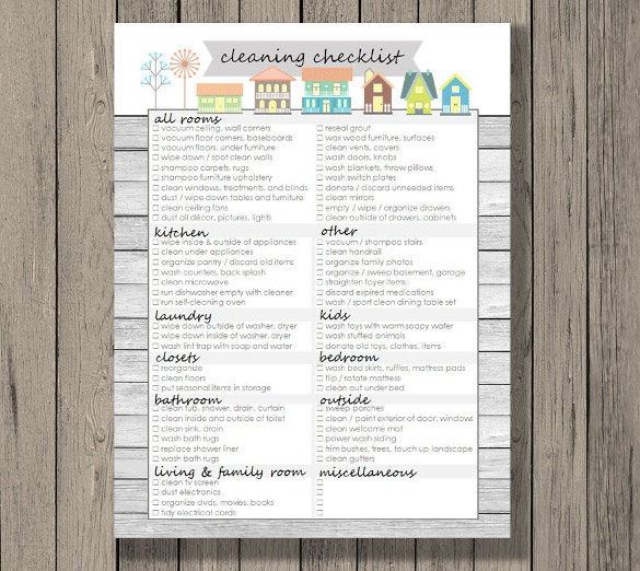 printable spring cleaning checklist template download