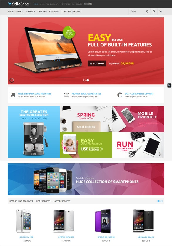 virtuemart joomla shop website template