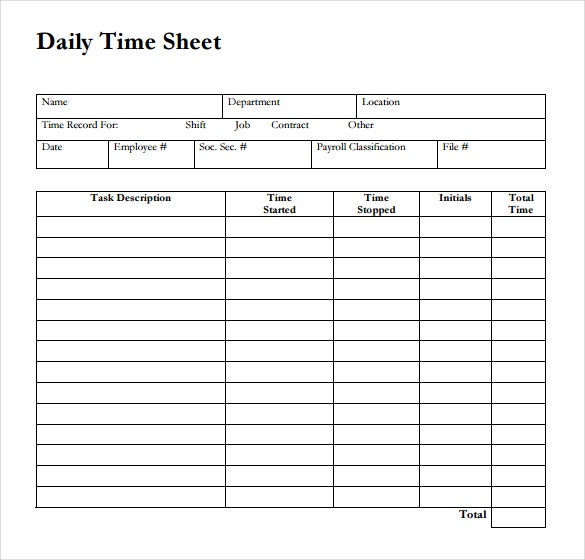 Time Sheet Template Timesheet Template Word Timesheet Templates