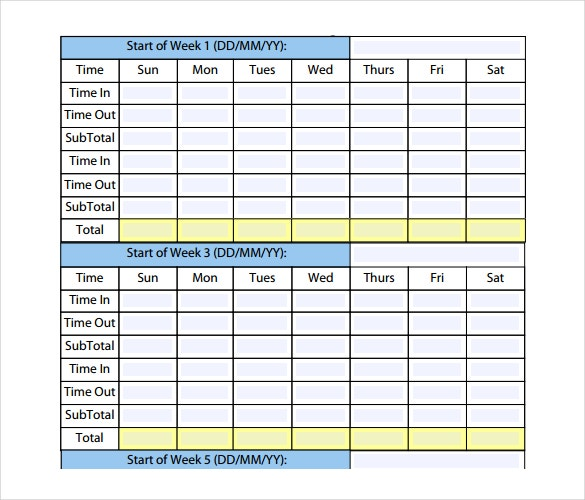 24  payroll timesheet templates  u0026 samples