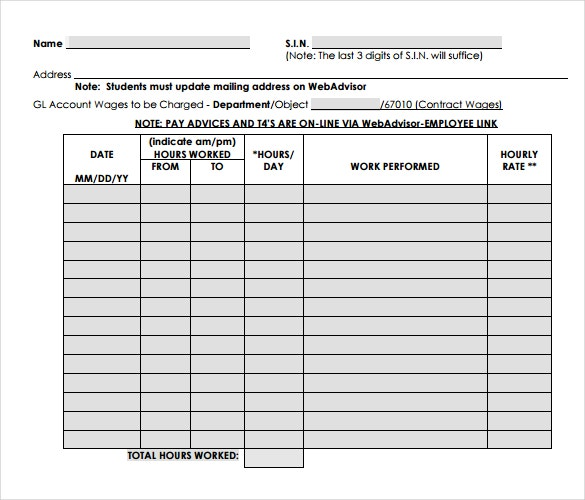 contract employee payroll timesheet template in pdf