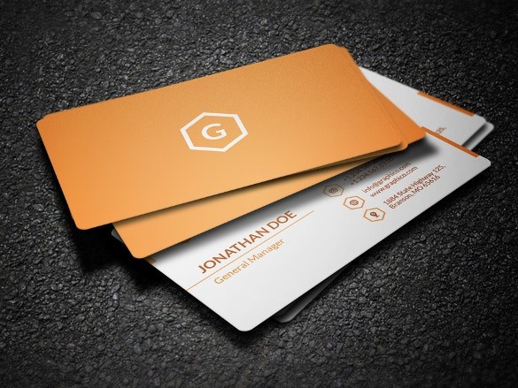 simple corporate business card download