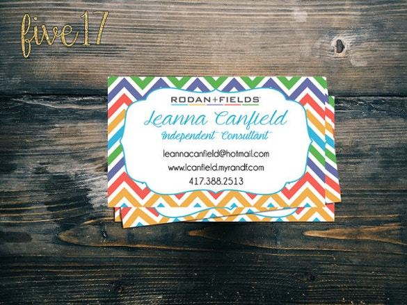 fields business cards download