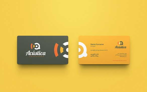 acustica business cards download