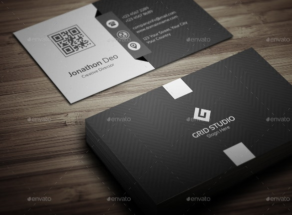 black business cards free download