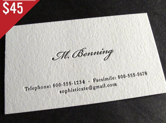 letterpress business cards download