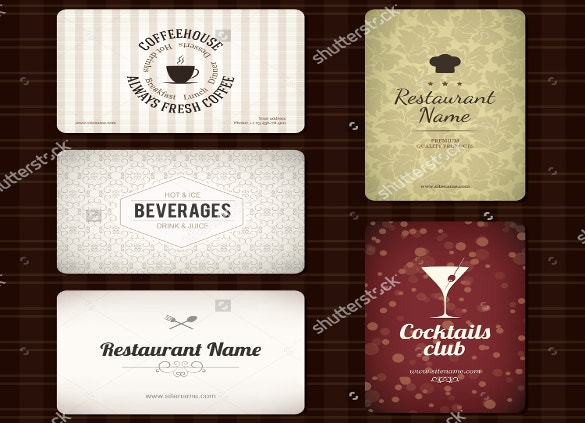 set of 5 detailed business cards free download