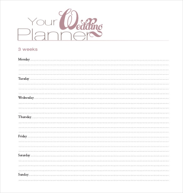 bride and groom wedding planner pdf document