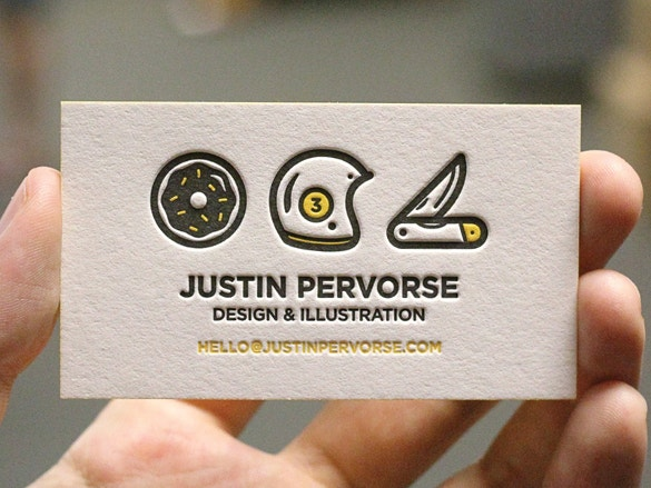 justin business cards download
