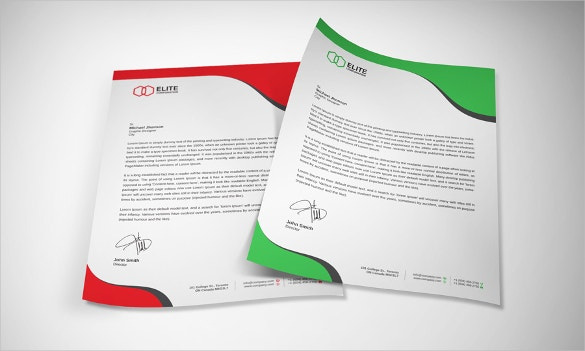 Microsoft Word Modern Letterhead Template. Download  Free Letterhead Templates Download