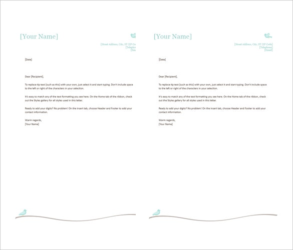 35 free download letterhead templates in microsoft word free letterhead examples word