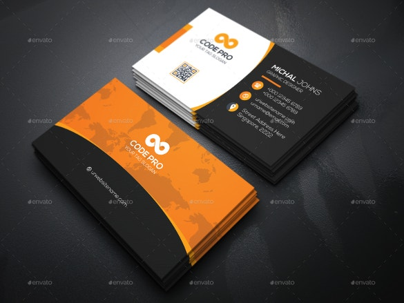 code pro business cards download