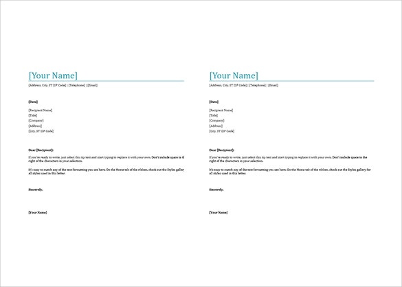 create a letterhead in word 2010