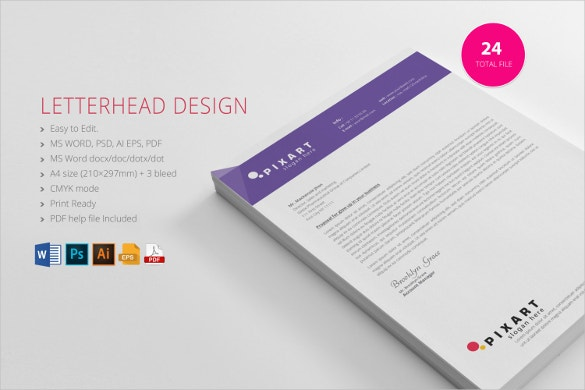 19 Free Download Letterhead Templates in Microsoft Word – Free Business Letterhead Templates for Word