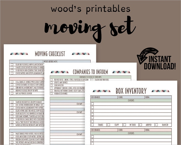 Moving Checklist Template – 15+ Word, Excel, Pdf Documents