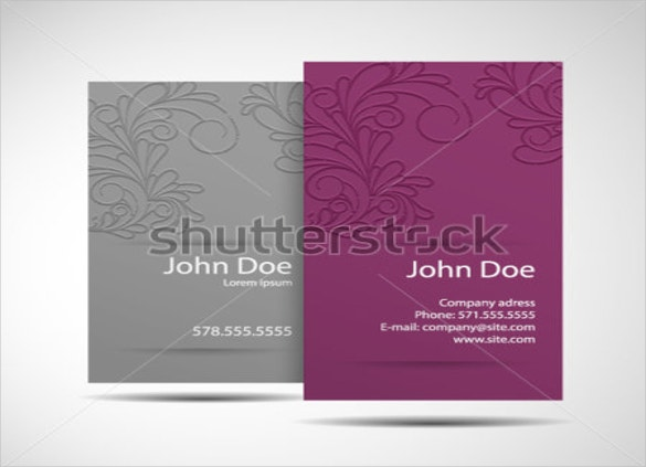 business card monochrome style free download