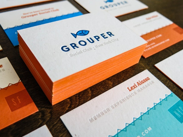 grouper business cards download