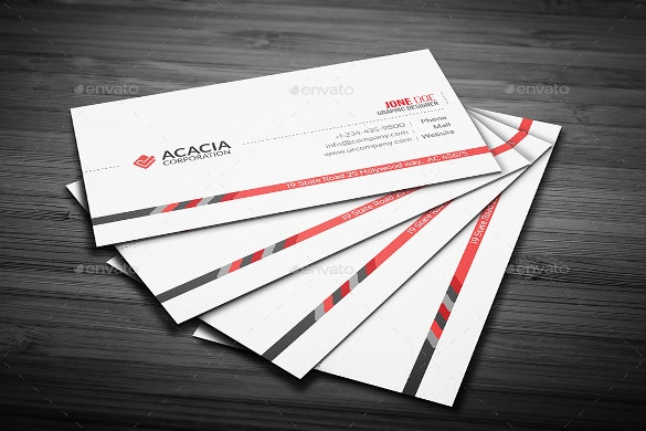 company business cards download