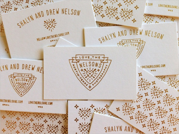letterpress business cards free download